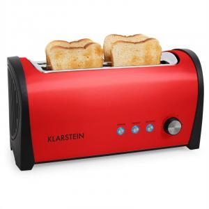 Cambridge Doppel-Langschlitz-Toaster 1400W rot Rot