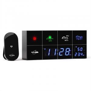 Inovalley SM500 Wetterstation Wecker Thermometer Hygrometer Spiegel