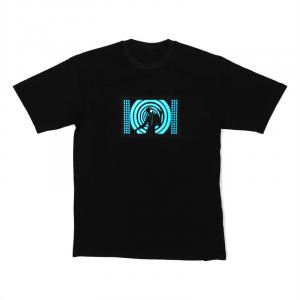 LED-Shirt Blue Disco Girl Größe XL