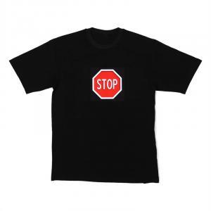 LED-Shirt STOP Größe M