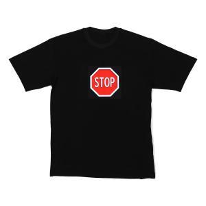 LED-Shirt STOP Größe XL