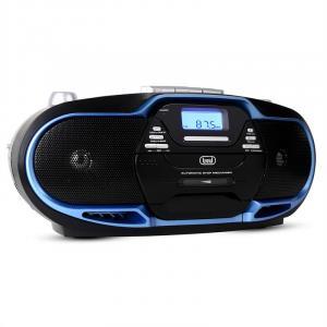 CMP-574 Boombox CD MP3 USB Kassetten Recorder UKW/MW-Radio blau
