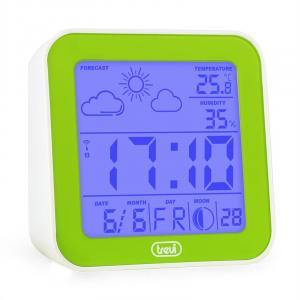 ME-3105 Wecker Wetterstation Thermometer Hygrometer Mondphasen grün Grün