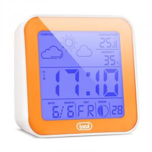 ME-3105 Wecker Wetterstation Thermometer Hygrometer Mondphasen orange Orange