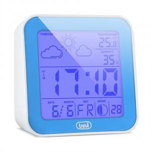 ME-3105 Wecker Wetterstation Thermometer Hygrometer Mondphasen blau Blau
