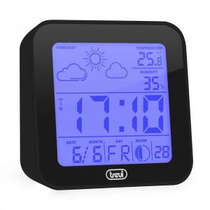 ME-3105 Wecker Wetterstation Thermometer Hygrometer Mondphasen schwarz Schwarz