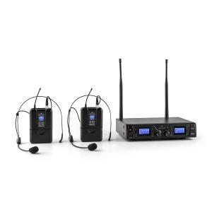 Duett Pro V2 2-Kanal UHF-Funkmikrofon-Set 50m Reichweite