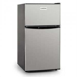 Big Daddy Cool Kühlschrank 80 Liter Klasse A+ Edelstahl schwarz Silber   80