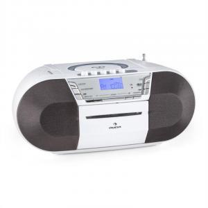 Jetpack portable Boombox USB CD MP3 UKW Batteriebetrieb weiß Weiß