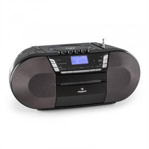 Jetpack portable Boombox USB CD MP3 UKW Batteriebetrieb schwarz Schwarz