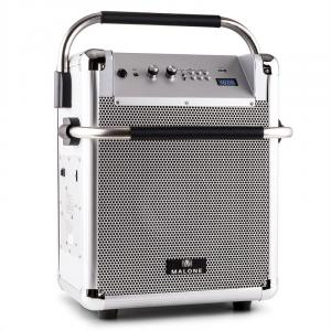 Rock Fortress PA-Anlage USB Bluetooth UKW-Radio AUX 50W max. silber