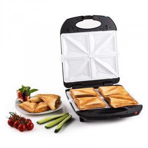 Trinity 3in1 Sandwich Maker XXL 1300 W schwarz Schwarz