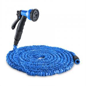 Water Wizard Flexibler Gartenschlauch 8 Funktionen 22,5m blau