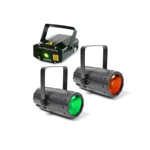 Light Package 2 Disco-Effektbeleuchtungsset 2xLichteffekte 1x Laser