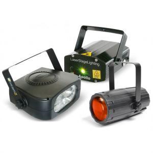 Light Package 4 Disco-Effektset LichteffektmaschineLaser Stroboskop