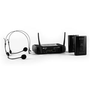 STWM712H Micro VHF Funkmikrofon-Set 2 x Headset