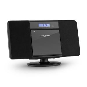 V-13 Stereoanlage CD MP3 USB Radio Wecker schwarz Wandmontage