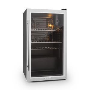 Beersafe XXL Kühlschrank 80 Liter Klasse A+ Glastür Edelstahl Silber | 80