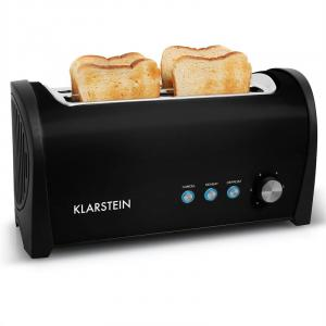 Cambridge Doppel-Langschlitz-Toaster 1400W schwarz Schwarz