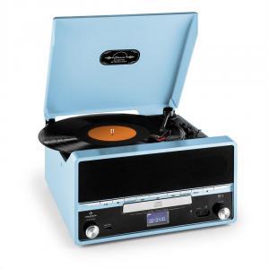 RTT 1922 Retro-Stereoanlage MP3 CD USB UKW AUX Aufnahmefunktion blau