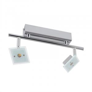 Vegard 2 Spotlampe LED 2x5W 400lm drehbar schwenkbar Chrom Glas