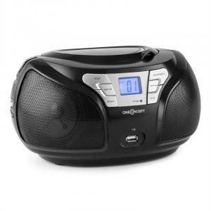 Groovie BK Boombox Bluetooth CD UKW AUX MP3 Schwarz