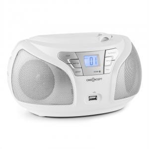 Groovie WH Boombox Bluetooth CD UKW AUX MP3 weiß Weiß