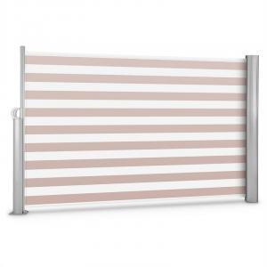 Bari 318 Seitenmarkise Seitenrollo 300x180cm Aluminium creme/weiß