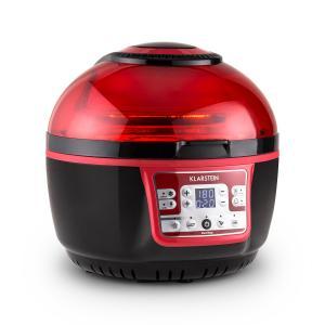 VitAir Turbo Heißluftfritteuse rot-schwarz 1400W Grillen Backen 9l Rot