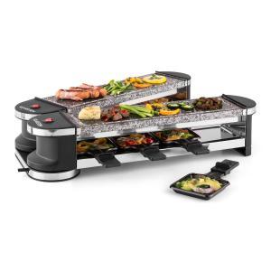 Tenderloin 100 Raclette-Grill 1200W 8 Personen 2x Natursteinplatte