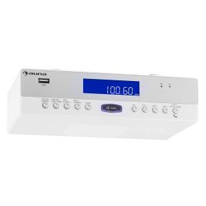 KR-100 WH Küchen-Radio Unterbau Bluetooth USB MP3 Freisprechfunktion Weiß