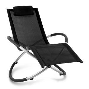 Chilly Billy Gartenliege Liegestuhl Relaxliege Aluminium schwarz Schwarz