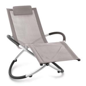 Chilly Billy Gartenliege Liegestuhl Relaxliege Aluminium taupe Grau