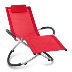 Chilly Billy Gartenliege Liegestuhl Relaxliege Aluminium rot Rot