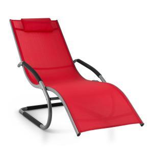 Sunwave Gartenliege Liegestuhl Schwingliege Relax Aluminium rot Rot