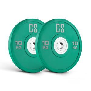 Performan Urethane Plates Gewichtsplatten Paar 10kg Grün 2x 10 kg
