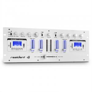 DJ405USB 4-Kanal-DJ-Mixer 2 x Bluetooth USB SD AUX Aufnahmefunktion Weiß