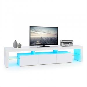 Quentin Lowboard TV Board LED-Stimmungslicht Farbwechsel weiß