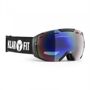 Snow View Skibrille Snowboardbrille REVO Coating Halbrahmen schwarz