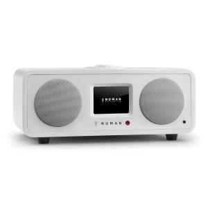 One - 2.1 Design Internet Radio 20W Bluetooth Spotify Connect DAB+ Weiß