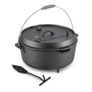 Hotrod 145 Dutch Oven BBQ-Topf 12 qt / 11,4 Liter Gusseisen schwarz