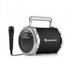 DR. Bang! 2.1-Bluetooth-Lautsprecher USB SD AUX Akku inkl. Mikrofon Schwarz
