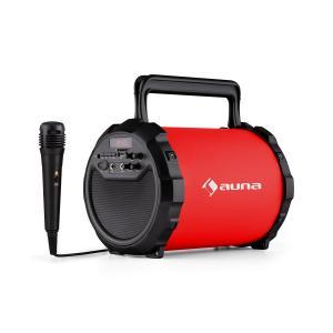 DR. Bang! 2.1-Bluetooth-Lautsprecher USB SD AUX Akku inkl. Mikrofon rot Rot