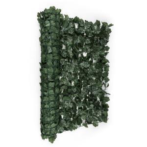 Fency Dark Ivy Sichtschutzzaun Windschutz 300x100 cm Efeu dunkelgrün