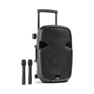 "Bushfunk 30 Aktiv-PA-Lautsprecher 700W Bluetooth Akku USB SD MP3 VHF 30 cm (12"")"
