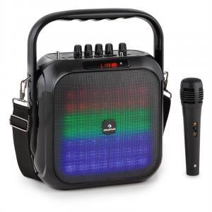 Big Dazzl Bluetooth-Lautsprecher Akku LED inkl. Mikrofon & Fernbedienung