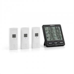 Launburg Funk-Wetterstation Alarm Batterie 3 x Außensensor