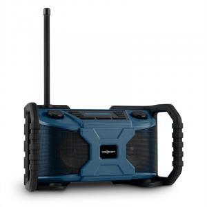 Worksite Baustellen-Lautsprecher Outdoor-Lautsprecher DAB+ UKW Bluetooth USB batterie blau Blau