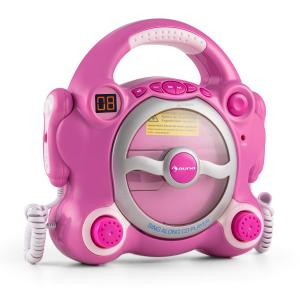 Pocket Rocker Karaoke-CD-Player Sing-A-Long 2 x Mikrofon Batteriebetrieb Pink