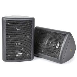 SKY-100 2-Wege-Stereo-Lautsprecher Paar 75W max. inkl. Montagematerial schwarz